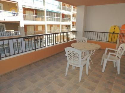 Apartment with large terrace and near beach